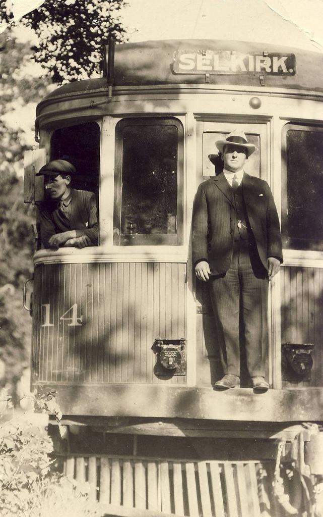 "Electric Interurban Streetcar of the ""Winnipeg, Selkirk and Lake Winnipeg Railway Company (David Wyatt collection)"