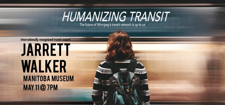 Human Transit author speaking in Winnipeg